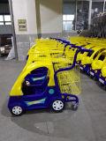 Het Karretje van het Boodschappenwagentje van de baby voor Supermarkt met Één Mand van het Metaal