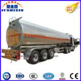 3 do eixo 45cbm da liga de alumínio do petróleo bruto de petróleo do combustível de petroleiro do caminhão reboque Semi