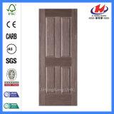 Piel moldeada HDF natural de la puerta de la chapa de madera (JHK-004P)