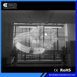 P3.9/7.8mm 높은 광도 광고를 위한 투명한 발광 다이오드 표시