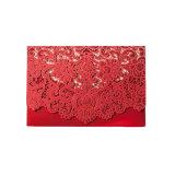 Fuentes de la boda de estilo rústico Vintage blanco rojo elegante Tarjeta de Invitación de boda