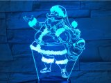 3D Lamp van Kerstmis, het Licht van de Nacht van de Optische illusie voor Kinderdagverblijf/Decor/Woonkamer, 7 Kleuren die Speelgoed en de Giften van Kerstmis veranderen (de Kerstman)
