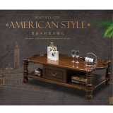 Nouveau design moderne en bois massif longue table à café (comme l839)