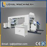 Rolo jumbo automática de corte longitudinal de Máquina com carregamento Shaftless