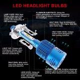 Faro compatibile H4 di lumen 20W LED delle lampadine 2500 dell'automobile LED di Ymq3 Fanless