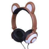 携帯電話のためのかわいいくまの耳のヘッドホーン