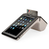 タブレットクレジットカードの読取装置のTS7002が付いている7インチの人間の特徴をもつ可動装置POSのターミナルスキャンナー
