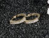 Очарование круг циркон серьги Shinny мода украшения свадебной рождественских подарков Crystal шпилька за круглым столом для женщин Bijoux серьги