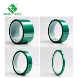 Grünes Hallo-Temp-selbsthaftendes Kreppband-Polyester-Klebstreifen für Puder-Beschichtung