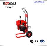 Machine sectionnelle électrique de nettoyage de drain de Customed (D200-A)
