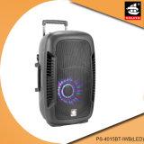 Altofalante recarregável portátil Mic PS-4015bt-Iwb do sistema Bluetooth do karaoke (diodo emissor de luz)
