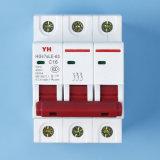 De Stroomonderbreker 6A 10A 16A 20A 25A 32A 40A 50A 63A RCCB ELCB van de overblijvend-stroom 1p 2p 3p 4p