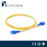 Cordon de connexion duplex uni-mode de la fibre optique Sc-Sc