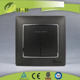 Gruppo variopinto del piatto certificato CE/TUV/CB 2 di standard europeo CON l'interruttore D'ARGENTO della parete del LED