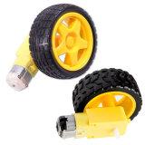 Motor + rueda del Tt del motor del engranaje para el motor elegante de la C.C. de la robusteza 3-6V del coche + ruedas que utilizan