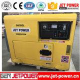 générateur silencieux portatif de diesel du bâti 6kw