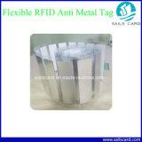 Anti étiquette en métal de vente d'IDENTIFICATION RF d'ABS chaude pour la gestion de patrimoine