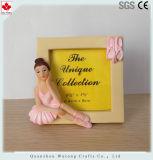 Hermoso diseño personalizado de bailarín de Ballet de resina el marco de fotos decoración de la mesa