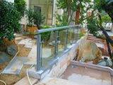 304 escadas retas do aço inoxidável dos Ss com borne e vidro