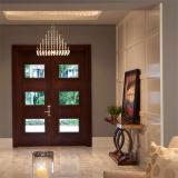 Porte en bois de bois de construction de porte principale de modèle d'entrée en bois solide