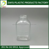 längliche pharmazeutische Flasche des Haustier-250ml mit Plastikschutzkappe
