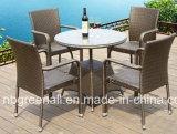 편리한 손 길쌈 옥외 테이블과 의자 가구 세트