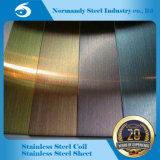 202 3cr12 Plaque de couleur en acier inoxydable pour la décoration