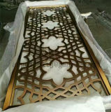 Aço inoxidável painéis cortados a laser decorativas telas metálicas