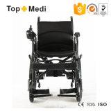 Sedia a rotelle piegante elettrica di alluminio della strumentazione medica di riabilitazione della Cina
