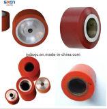 Rodillo de goma del caucho de silicón de la rueda de la alta calidad