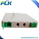 2 bandejas ópticas del almacenaje del rectángulo de ensambladura de la fibra del montaje de la pared de las memorias