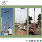 O LED de energia solar integrada Zhongshang Luz de rua com painel solar TUV