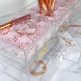 Акриловая сохраненная коробка свежего цветка для роз