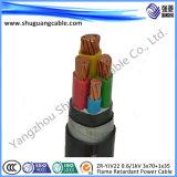Тонкая стальная проволока бронированные/XLPE изоляцией/PVC пламенно/0.6/1кв силового кабеля добычи угля