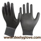 guantes de trabajo de la PU del poliester revestido de la PU 13G