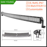 Coche de la barra de luz LED CREE Barra de luces LED curvada de 50 pulgadas 288W EMC Emark Offroad para el coche de la barra de luz
