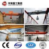 Gru standard della fine nastro di FEM con la gru a benna idraulica elettrica per carbone che afferra nella pianta del cemento
