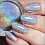 a poeira do cromo do pigmento do arco-íris do pó do Glitter do prego 3D para o Manicure e o prego projetam o pó holográfico do laser