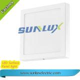 Lumière carrée montée par surface en aluminium de panneau de plafond d'OEM 9W 12W 110V-240V DEL