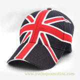 英本国のフラグのEmbrioderyの野球帽の野球帽