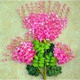 Украшение Bracketplant пластичных глициний листьев искусственное флористическое