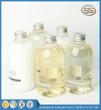 Botella vacía plástica del jabón de baño del acondicionador del champú de Mateial del animal doméstico del casquillo de aluminio