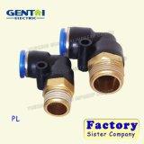 Enfoncer d'ajustage de précision de tuyaux d'air d'amorçage mâle de Pneuamtic Pl le connecteur rapide