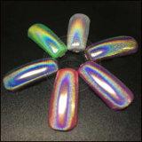 Unicorn cromo holográfica láser espejo Gel uñas arco iris de pigmento de polaco