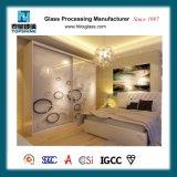 De aangepaste Deur van de Garderobe van het Glas van de Druk van de Serigrafie van het Ontwerp voor het Meubilair van de Slaapkamer