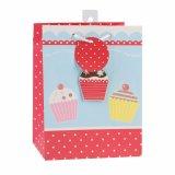 Rojo Pastel de cumpleaños Souvenir supermercado bolsa de papel de regalo de prendas de vestir