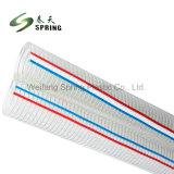 Effacer l'eau transparente en PVC flexible métallique en acier