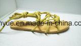 Sandali piani dei pattini di cuoio dell'unità di elaborazione della pelle scamosciata dei pattini delle donne