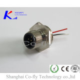 M12 남성 고침 나사 5 Pin 코딩 위원회 마운트 땜납 RF 연결관