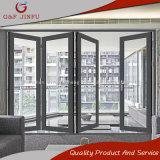 G&F Jinfu exterior de alumínio à prova de furacão Porta Bi-Folding